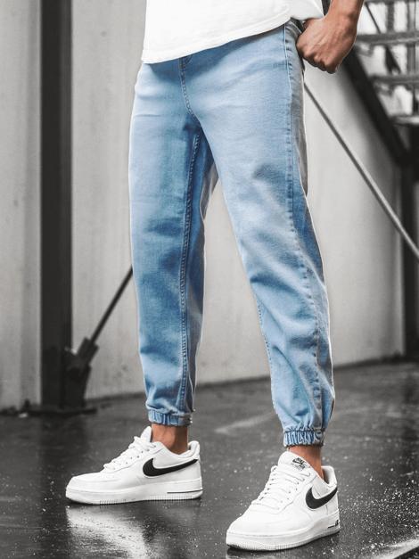 Pantalon Jogger De Hombre Azul Claro Ozonee Dp 663 Ozonee