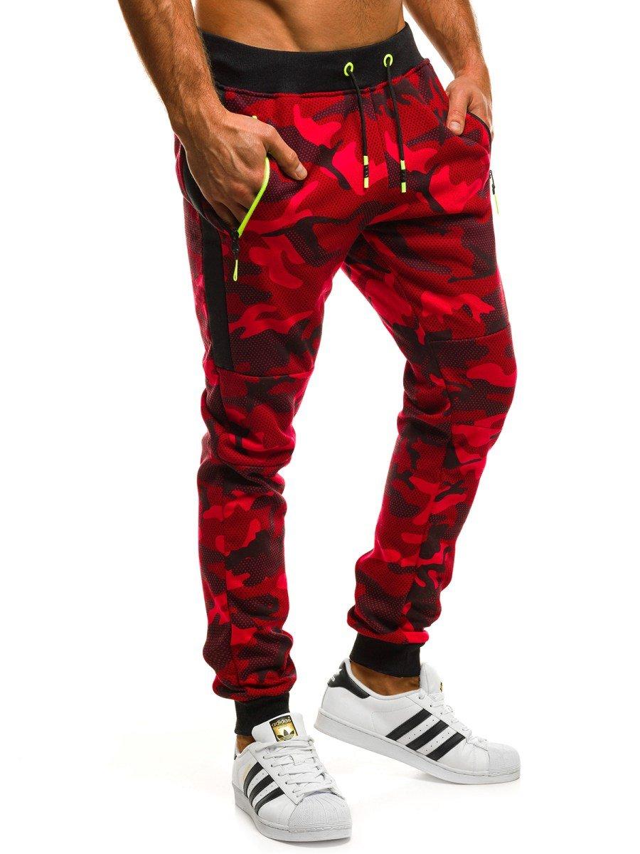 55aadb90aa ... J.STYLE KK08 Pantalón de chándal de hombre rojo ...