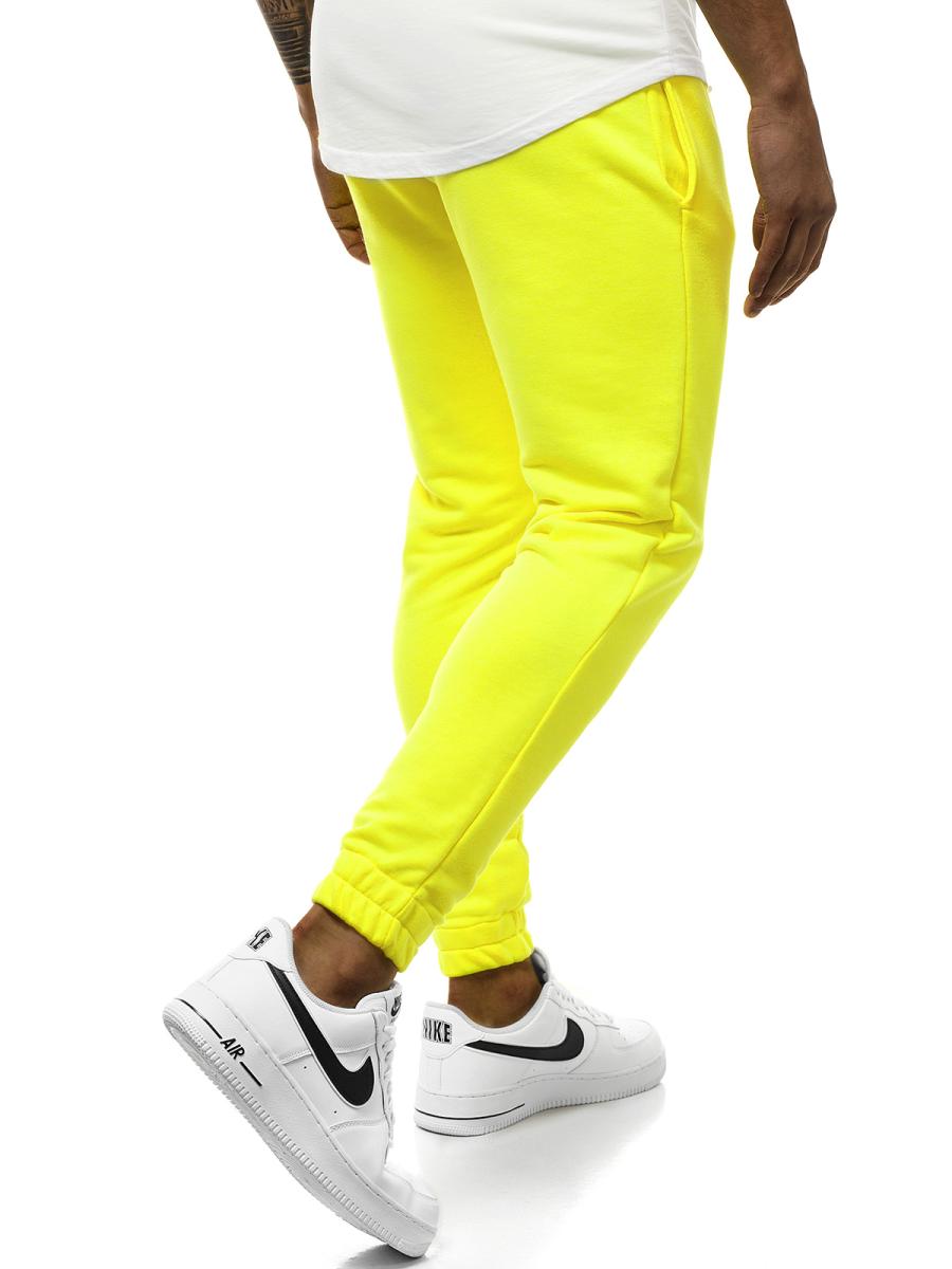 mirada detallada venta caliente más nuevo busca lo último Pantalón de chándal de hombre amarillo neón OZONEE O/11121 ...