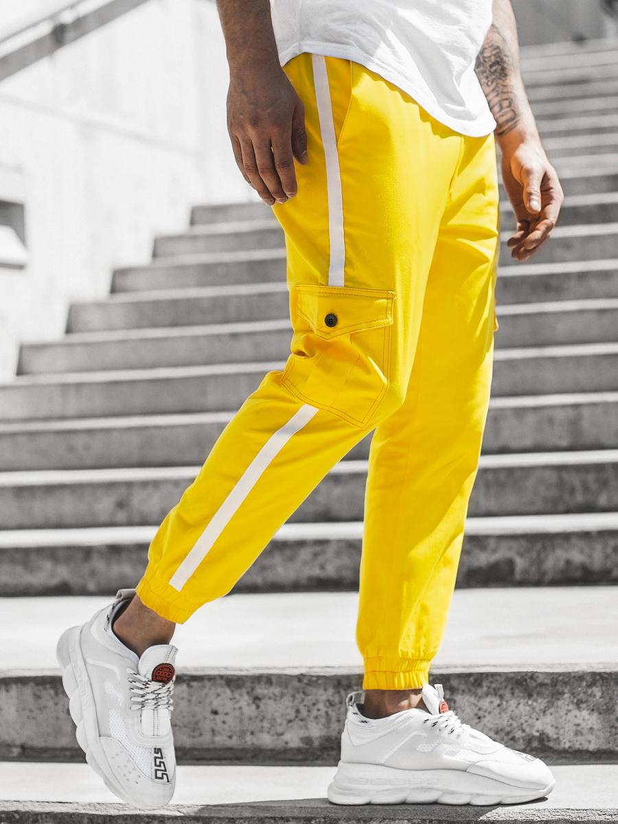 Pantalon Jogger De Hombre Amarillo Ozonee Dj 5580 Ozonee