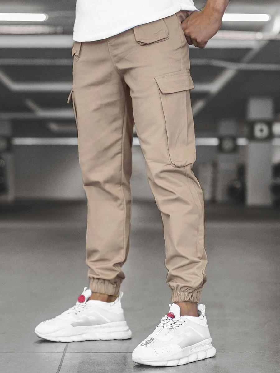Pantalon Jogger De Hombre Beige Ozonee Mach 5012 Ozonee