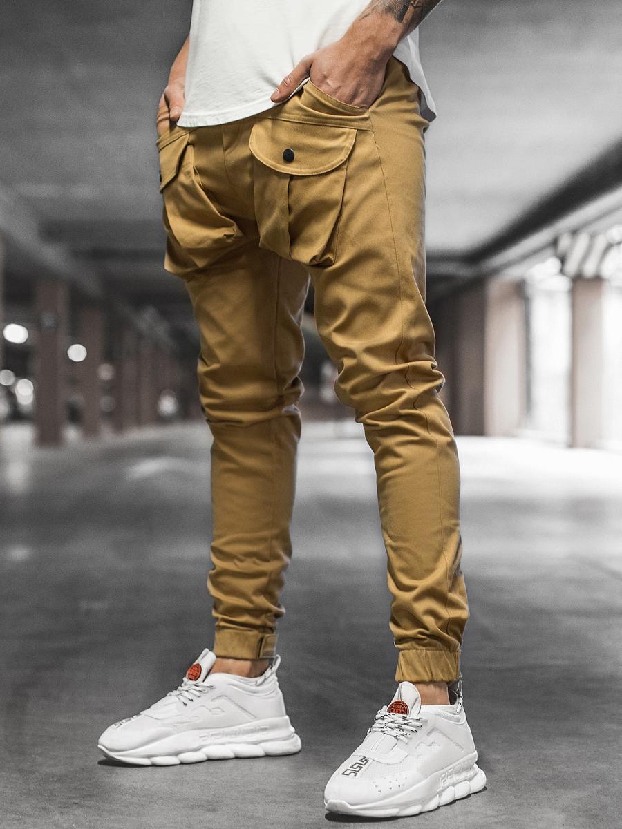 Pantalón jogger de hombre camel OZONEE G/11144   OZONEE