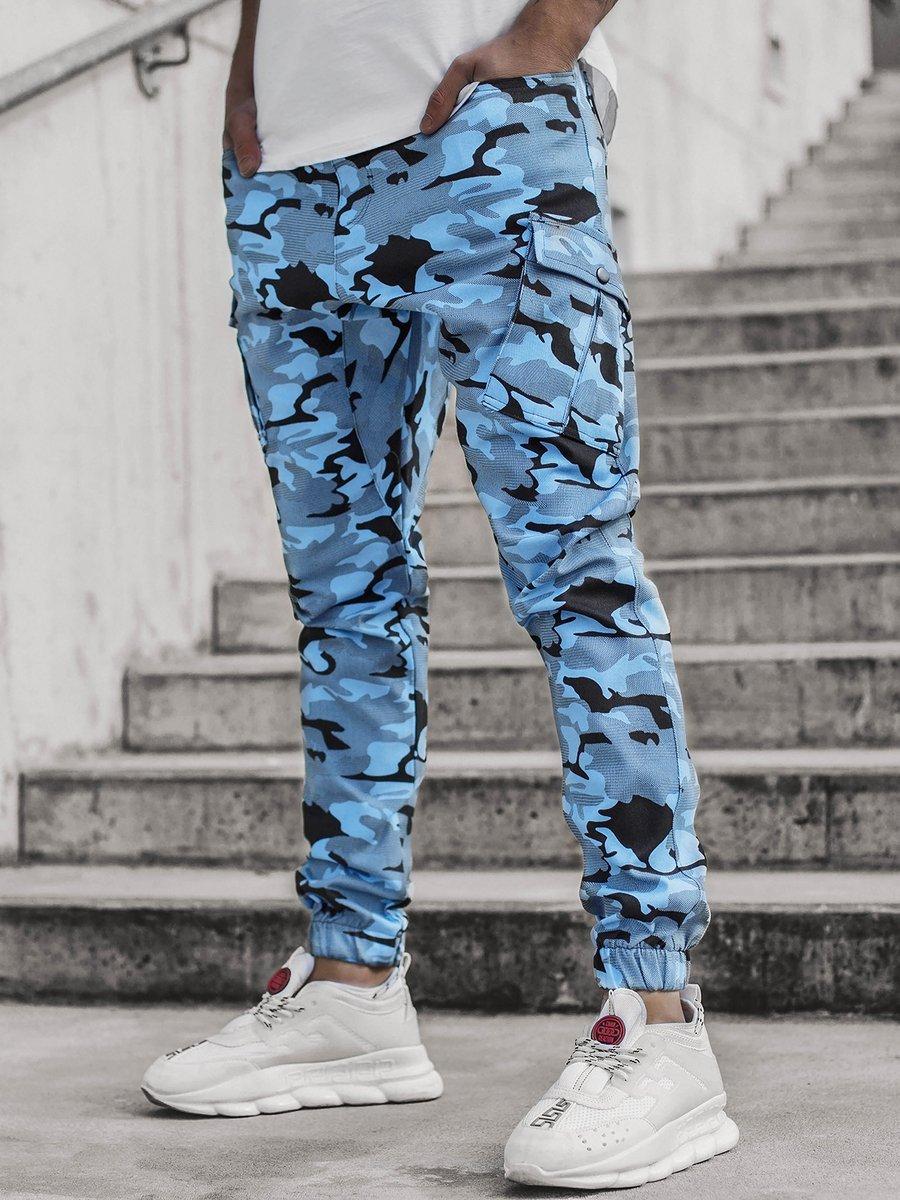 Pantalon Jogger De Hombre Camuflaje Azul Ozonee A 0853 Ozonee