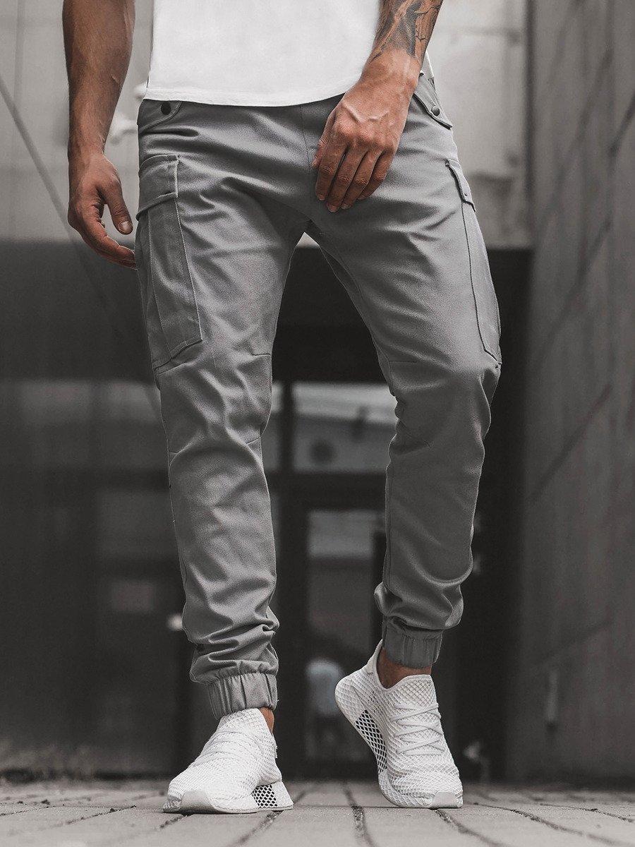 Pantalon Jogger De Hombre Gris Ozonee A 1005 Ozonee