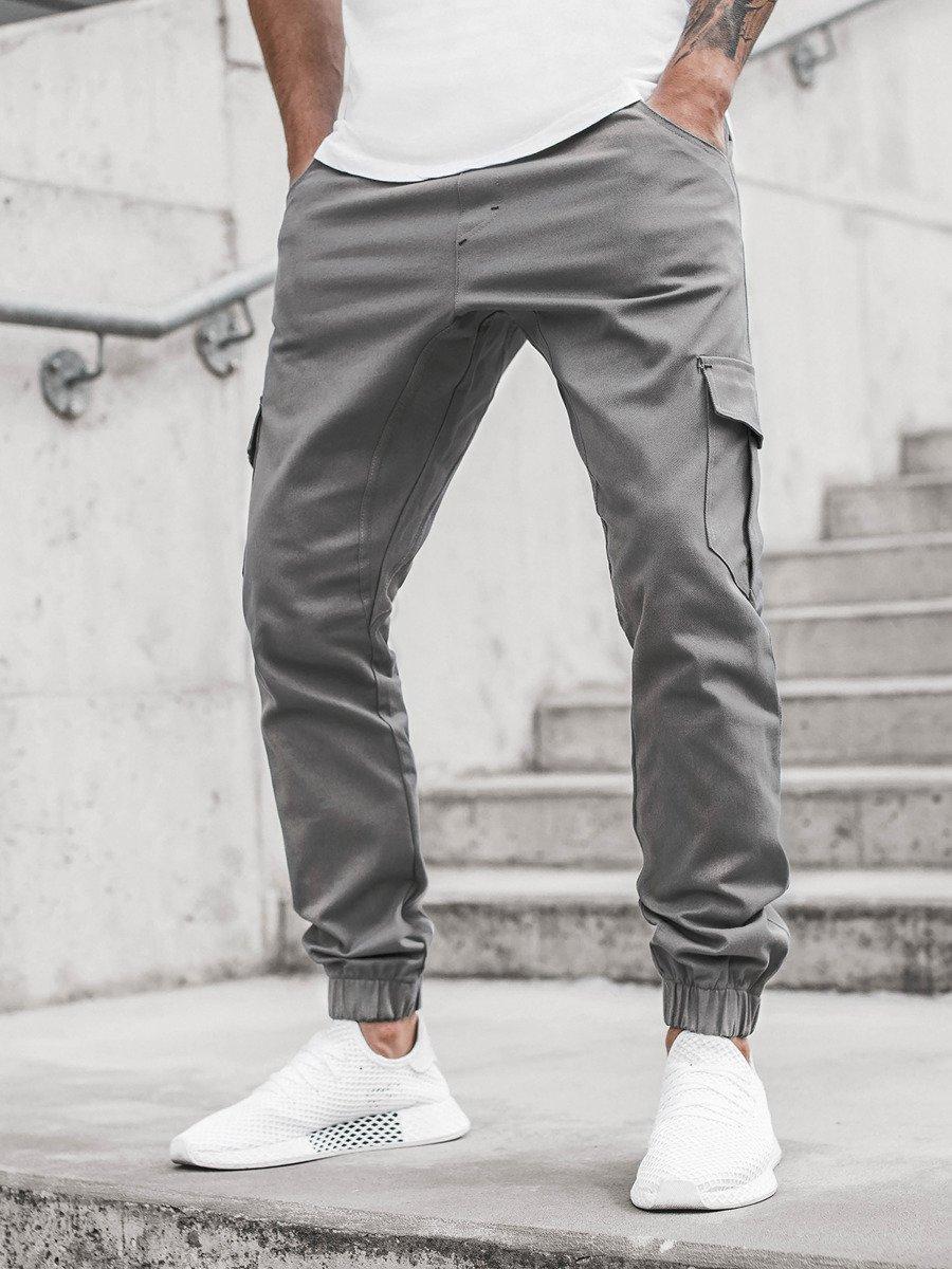 Pantalon Jogger De Hombre Gris Ozonee A 404 Ozonee