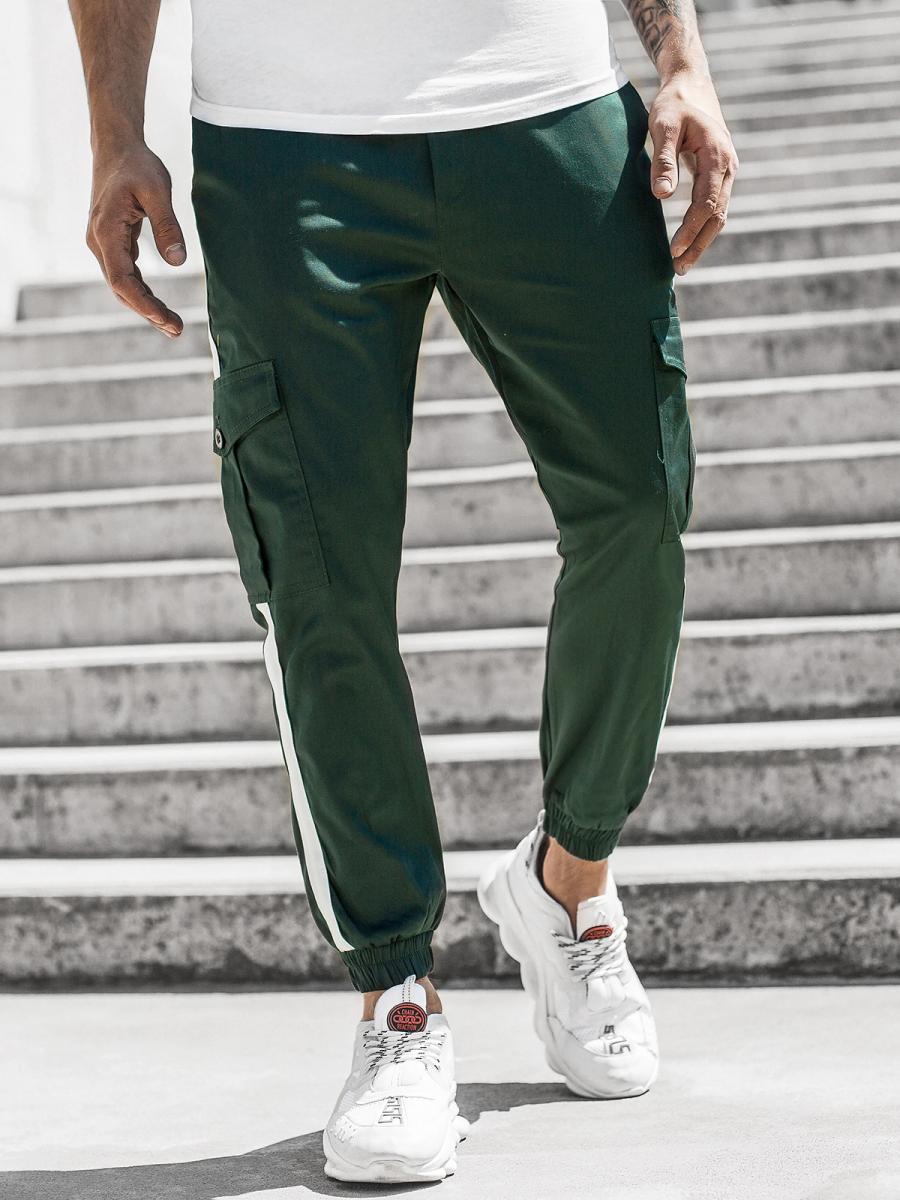 Pantalon Jogger De Hombre Verde Oscuro Ozonee Dj 5580 Ozonee