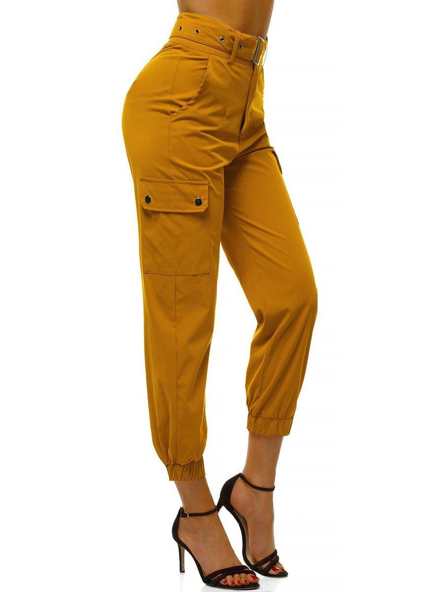 Pantalones Jogger Para Mujer Amarillo Ozonee O Hm001 Ozonee