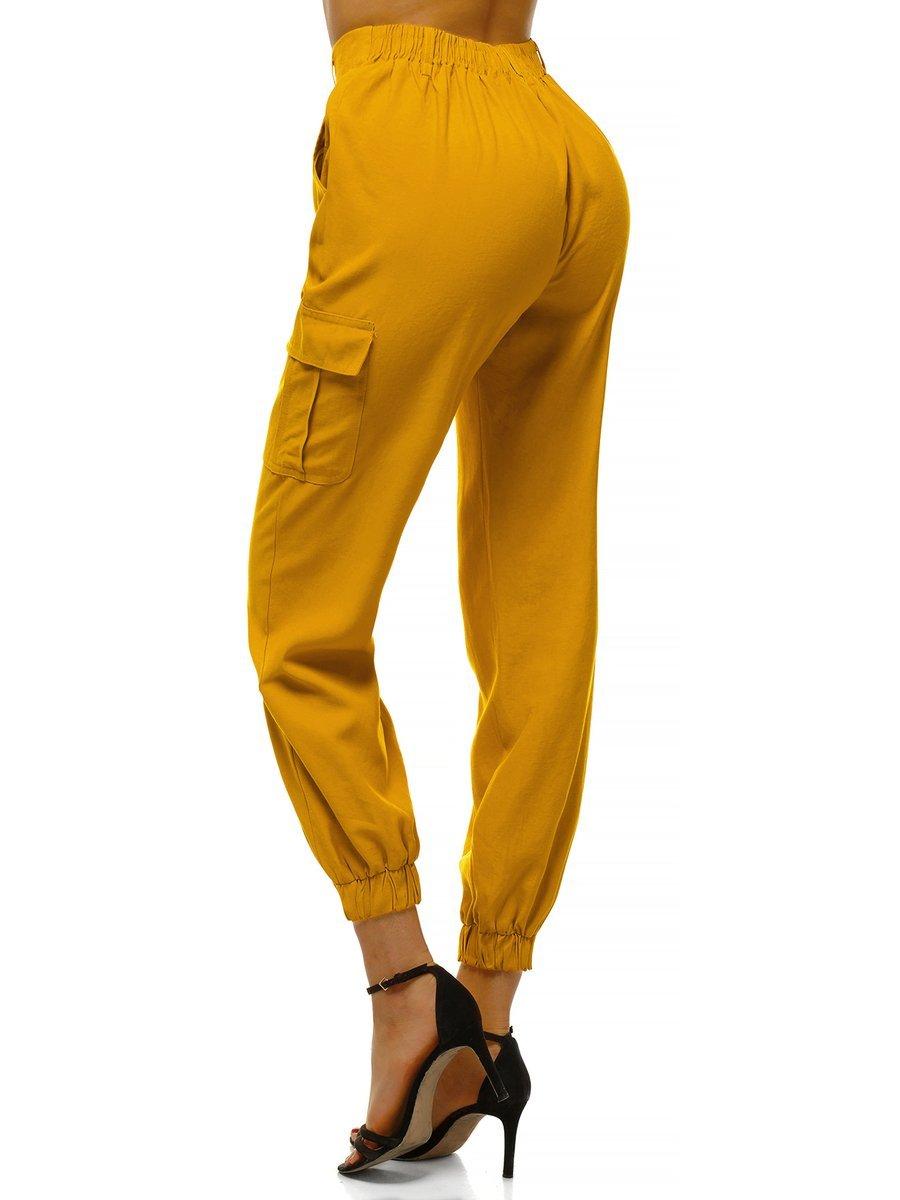 Pantalones Jogger Para Mujer Amarillo Ozonee O Hm005 Ozonee
