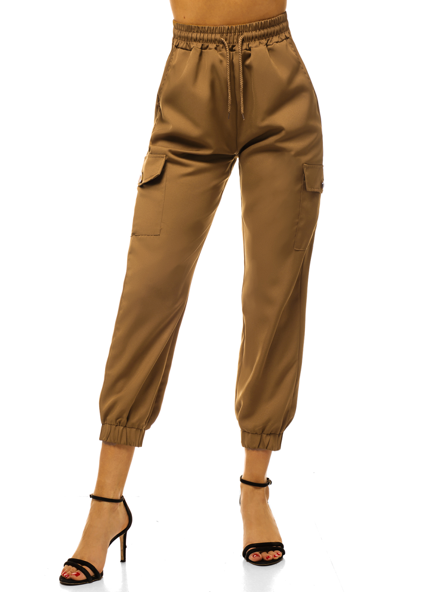 Pantalones Jogger Para Mujer Camel Ozonee O Hm006 Ozonee
