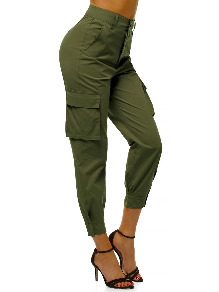 Pantalones Jogger Para Mujer Caqui Ozonee O Hm002 Ozonee