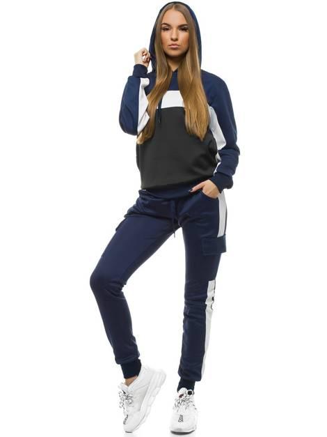 Pantalon De Chandal Para Mujer Azul Marino Ozonee Js Jk88109 Ozonee
